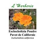 ESCHSCHOLTZIA CALIFORNICA POUDRE Pavot de Californie Eschscholtzia californica 100GR
