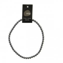 Collier perle 40 cm Hématite  NIA