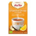 YOGI TEA GINGEMBRE ORANGE  à la vanille