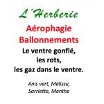 AEROPHAGIE, AEROCOLIE, FLATULENCES, BALLONNEMENTS.