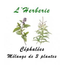 Céphalées mélanges de 3 Plantes 100 gr