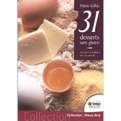 31 desserts sans gluten de Marie Gilles