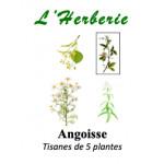 Angoisse tisanes de 5 plantes 100gr