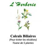 CALCULS BILIAIRES TISANE DE DE 5 PLANTES 100g