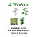 DIABETE DE TYPE 2 NON INSULINODEPENDANT Tisane de 9 plantes 100gr