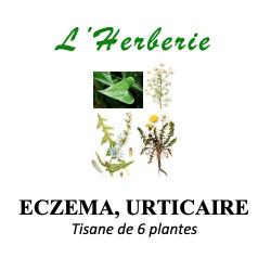 ECZEMA, URTICAIRE Tisane de 6 plantes 100g