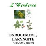 ENROUEMENT, LARYNGITE Tisane de 5 plantes 100g