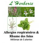 Allergies respiratoires & Rhume des foins Mélange de 5 plantes