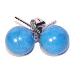 BOUCLE D OREILLE PERLE Turquoise NIA